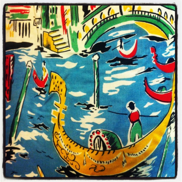 Detail from Venetian Print Apron