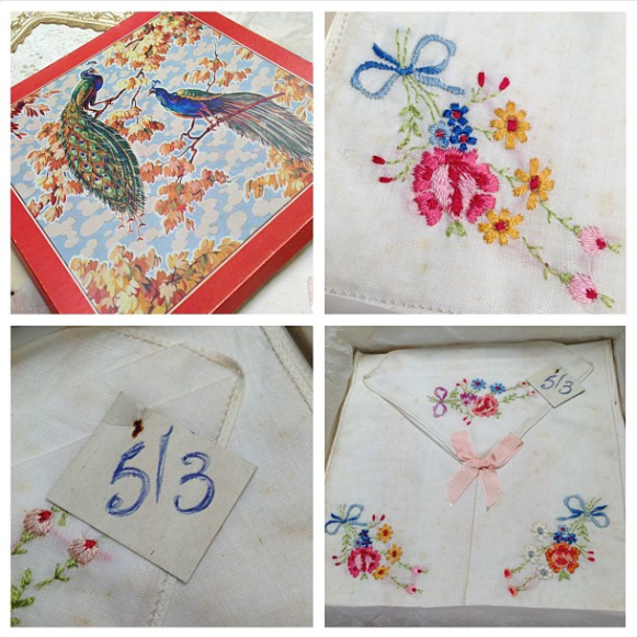Details of Handkerchiefs and Packaging from the Hodson Shop Collection. c1950.