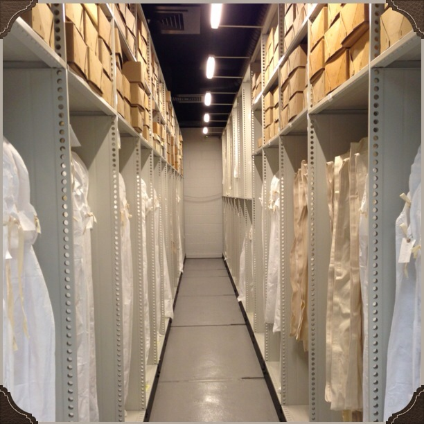 The sophisticated racking and storage facilities at the M&S Archive