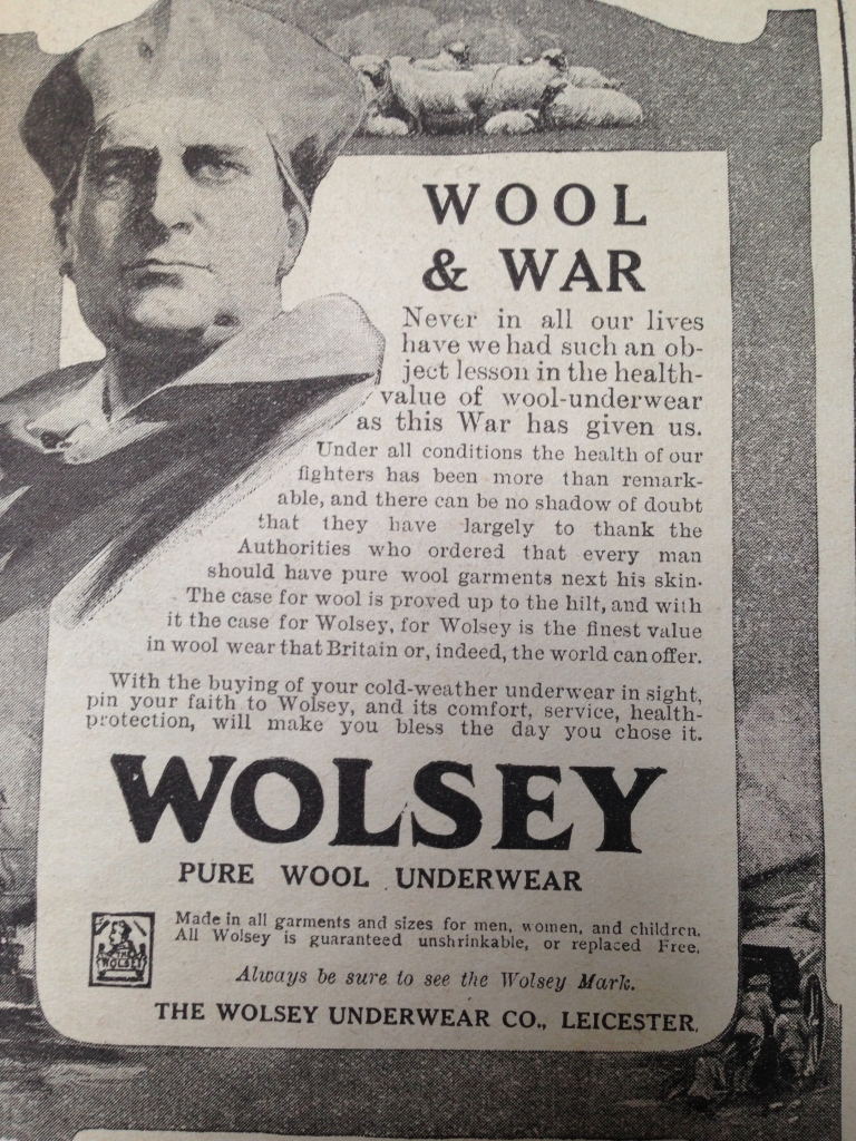 Wolset Advertisement First World War